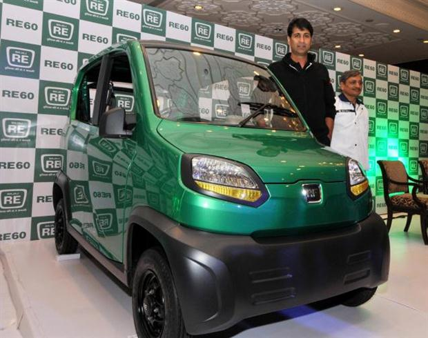 Bajaj unveils its small car RE60 with a mileage of 35kmpl