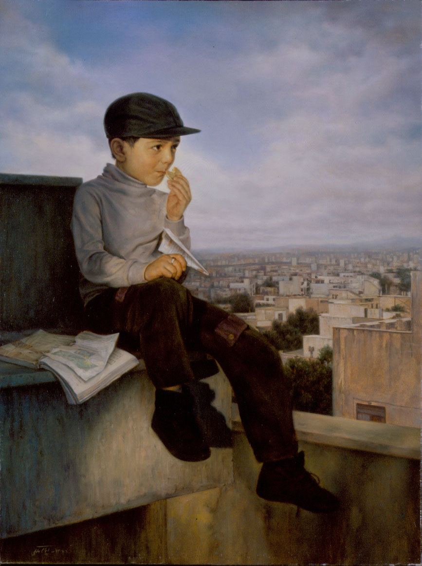 iman maleki painting, end of examinations