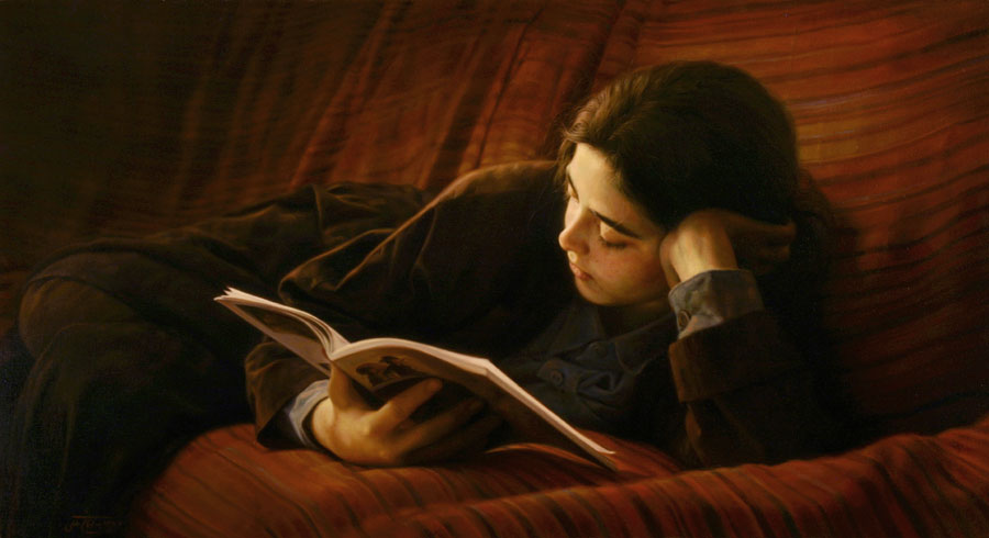 paintings of iman maleki, studying painting