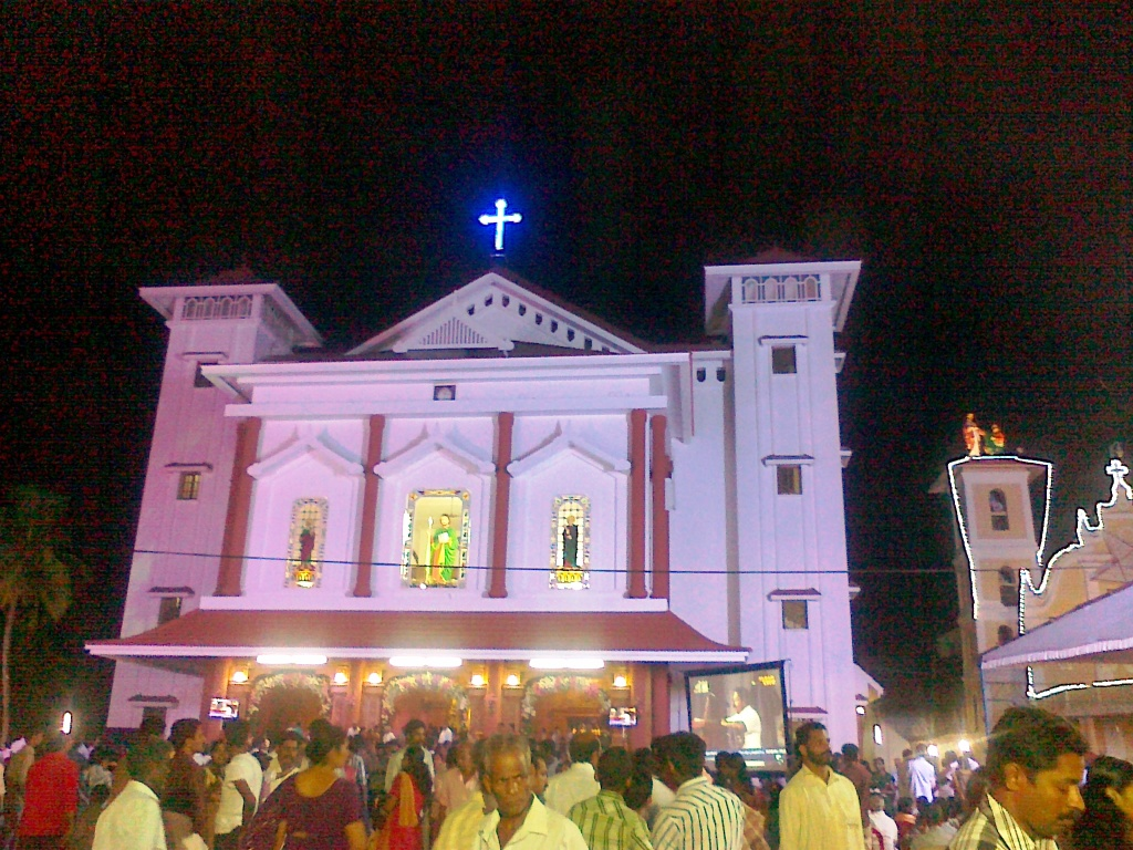 malayattoor-church-night-view